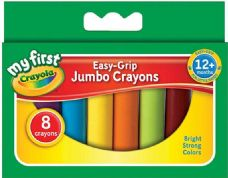 Crayola Easy Grip 8 Jumbo Wax Crayons